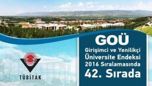 Girişimci ve Yenilikçi Üniversite Endeksinde Gaziosmanpaşa Üniversitesi 42. Sırada