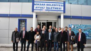 Niksar Ayvaz Su işletmesi, Kamu-Üniversite-Sanayi İşbirliği (KÜSİ) kapsamında ziyaret edildi.
