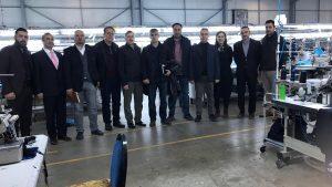 Tokat'ta faaliyet gösteren Kardelen, Alders ve Sateks tekstil firmaları KÜSİ kapsamında ziyaret edildi.