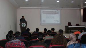 Üniversitemiz öğrencilerine Mühendislikte Ar-Ge dersi kapsamında FSMH anlatıldı.