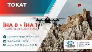 Teknoloji Geliştirme Bölgemizde faaliyetine devam eden TEKNOMER mühendislik 3-6 Ekim 2019 tarihleri arasında İHA pilot eğitimi vermeye başlamıştır.