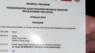 Erasmus + Programı Yükseköğretim Alanı Stratejik Ortaklık Projeleri bilgilendirme toplantısı