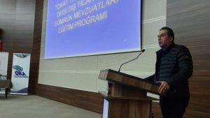 """""""Yabancı Öğrenciler Dış Ticaret Elçilerimiz"""" projesi kapsamında Tokat Gaziosmanpaşa Üniversitesi Konferans salonunda seminer düzenlendi."""