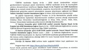 TOKAT TSO TÜBİTAK Siparişe Dayalı Ar-Ge ve Patent Tabanlı Teknoloji Transferi Destekleme Programı Bilgilendirme Toplantısı