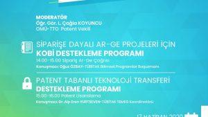TÜBİTAK Siparişe Dayalı Ar-Ge ve Patent Tabanlı Teknoloji Transferi Destekleme Programı Bilgilendirme Toplantısı