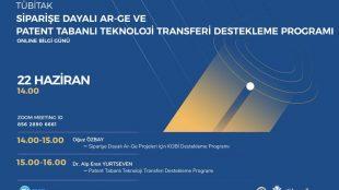 Siparişe Dayalı Ar-Ge Ve Patent Tabanlı Teknoloji Transferi Destekleme Programı Online Bilgi Günü