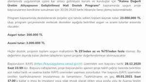 Orta Karadeniz Kalkınma Ajansı 2020 Yılı Proje Teklif Çağrısı İlanı